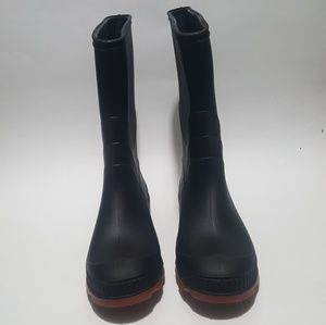 Rain Boots Women Size 5 Rubber Black and red 10.5